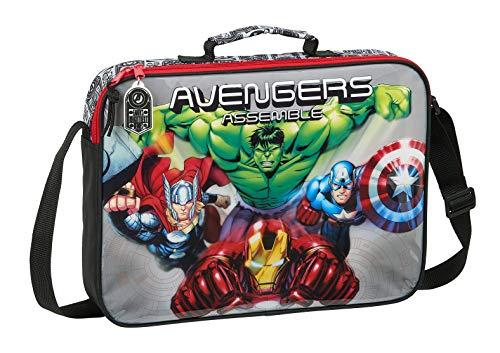 612079385 Maletín Cartera extraescolares Avengers safta, Multicolor