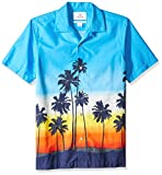 Amazon Brand - 28 Palms Men's Standard-Fit Tropical Hawaiian Shirt - Big & Tall, Sunset Scenic Ombre, 4XL