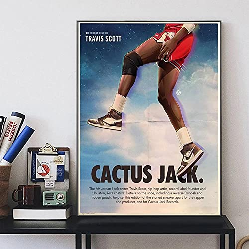 Arte de pared para zapatillas de deporte de colaboración de Travis Scott, carteles de lienzo e impresiones, cuadro de arte de pared para sala de estar, decoración del hogar, Cuadros, cuadro modular