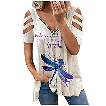Women Open V Front Wrap Pleated Slim Top Tee Long Sleeve Ruched T Shirt Womens Tops and Blouses Casual Basic Tees for Women Women Tops and Blouses Blouses #23-White,S