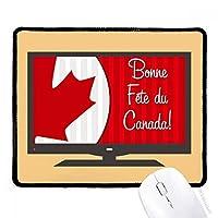 カナダメープルと幸運をカナダ マウスパッド・ノンスリップゴムパッドのゲーム事務所