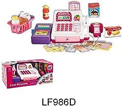 Registro de efectivo para niñas con pantalla LED, escáner, calculadora, supermercado, pretendido a jugar juguete para niños/niños mejor juguete