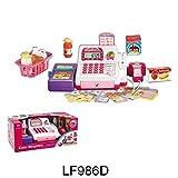 Caisse enregistreuse pour fille avec écran LED, scanner, calculatrice - Jouer au supermarché - Meilleur jouet pour enfant