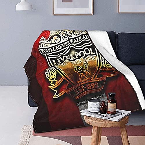 Liverpool Football Club - Manta de microfibra ultrasuave para cama, sofá, campamento, todas las estaciones, 125 x 150 cm