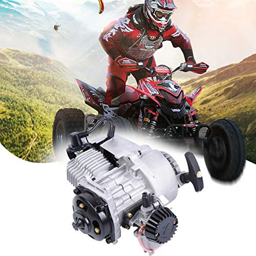 Ambienceo 2 tiempos 49CC Moto Motor Mini de aluminio con carburador Pullstart Carb Head Filtro de aire para Dirt Bike Quad Pocket Bike ATV