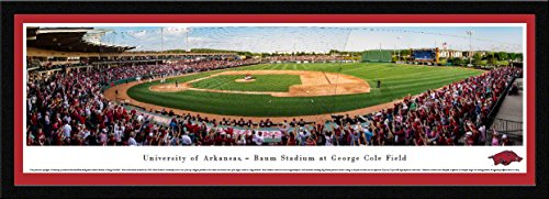 Arkansas Baseball - 42x15.5-inch Single Mat, Select Framed Picture by Blakeway Panoramas