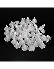 50PCS Clips Remaches Plastico Coche,KKmoon Clips para Fijación de Parachoques Grapas Coche para E36 E46 E39 E36 E53 E93