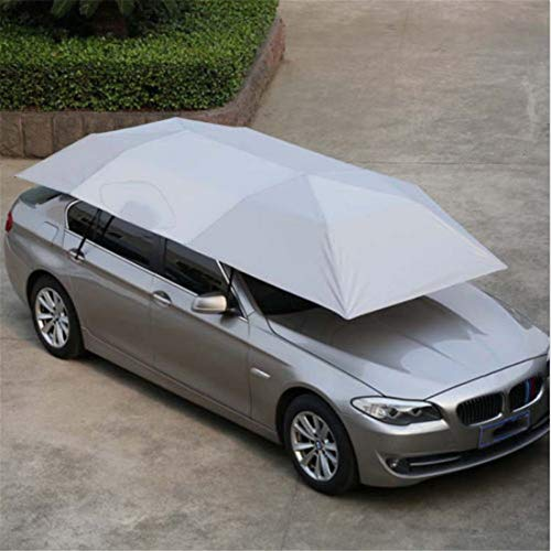 KangJIABAOBAO Car Sun Cover 400x210 cm gevouwen UV Oxford doek voor auto zon zonnescherm scherm tent overkapping dakafdekking zonwering meerdere optionele allweather bescherming auto Persenning