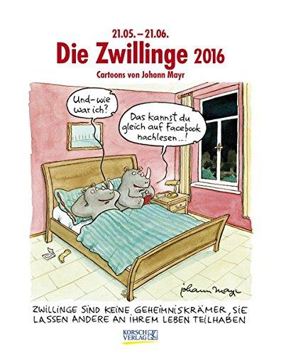 Zwillinge 2016: Sternzeichen-Cartoonkalender