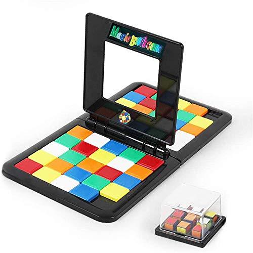 hmkazm Magic Block Game Lernpuzzle Blocks Spiel Kids Brain Intellektuelle Entwicklung Tischspiel Eltern-Kind Interaktives Puzzle Spielzeug zum Spielen und Lernen