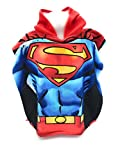 Superman DC Comics Badeponcho, Kapuzenbadetuch, Mikrofaser, 100 % Polyester, 110 x 55 cm