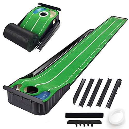 CHAMPKEY Hazard-PRO Golf Putting Mat(1.25' x 10') |2 Speeds Golf Putting Green Mat|Advanced...