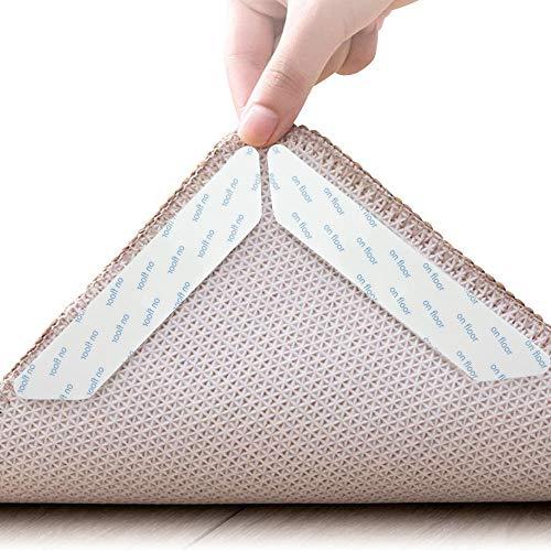 HAPPY FINDING Antirutschmatte Teppiche, 16 Stück Teppichgreifer Antirutsch Idealer Rutschschutz für Teppich