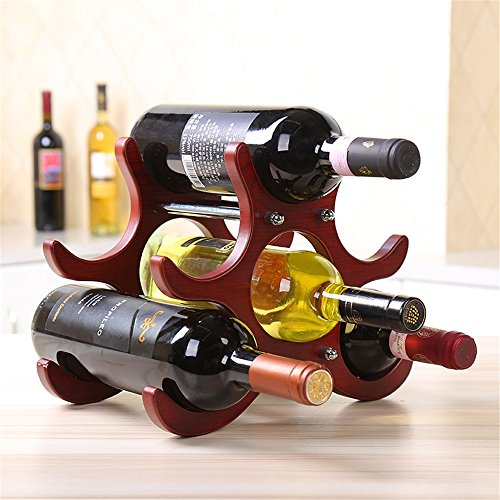 Amadoierly Casier à vin en Bois Massif Amovible