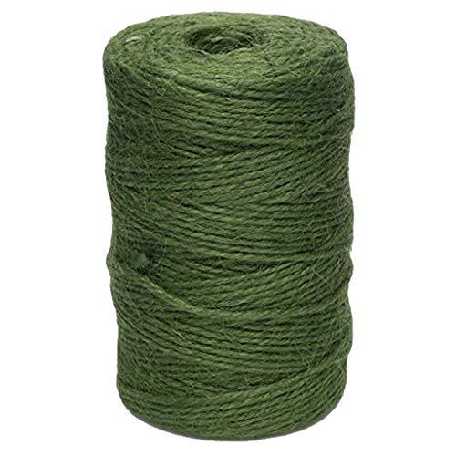 Green Jute Garden Twine Horticultural Twine String Line 60 Meters Linen Thread