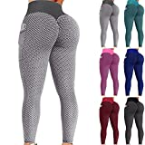 GOGOBO Famous Sexy Leggings, Yoga Pants for Women High Waist Tummy Control Booty Bubble Hip Lifting Workout Running Tights