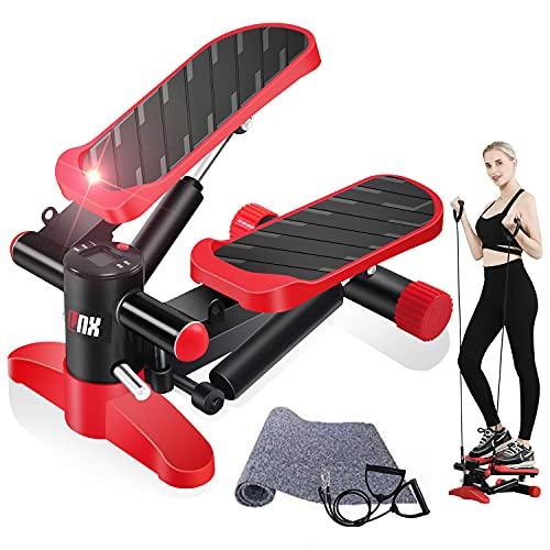 【2021強化版 全2カラー】ステッパー LNX 有酸素 運動 フィットネス ダイエット 器具 すてっぱー ひねり運動 踏み台昇降 静音 ステップ台 健康エクササイズ器具 ステップ 運動 足踏み 3D 健康ステッパー (レッド)
