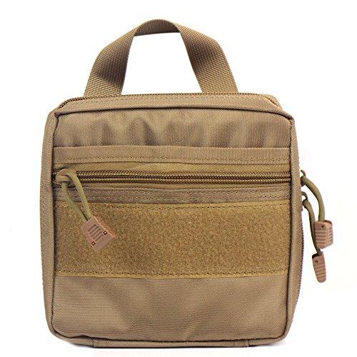 tactique Molle EMT/First Aid Medic kit Pochette Organiseur utilitaire Sac pochette pour sac à dos (Tan)
