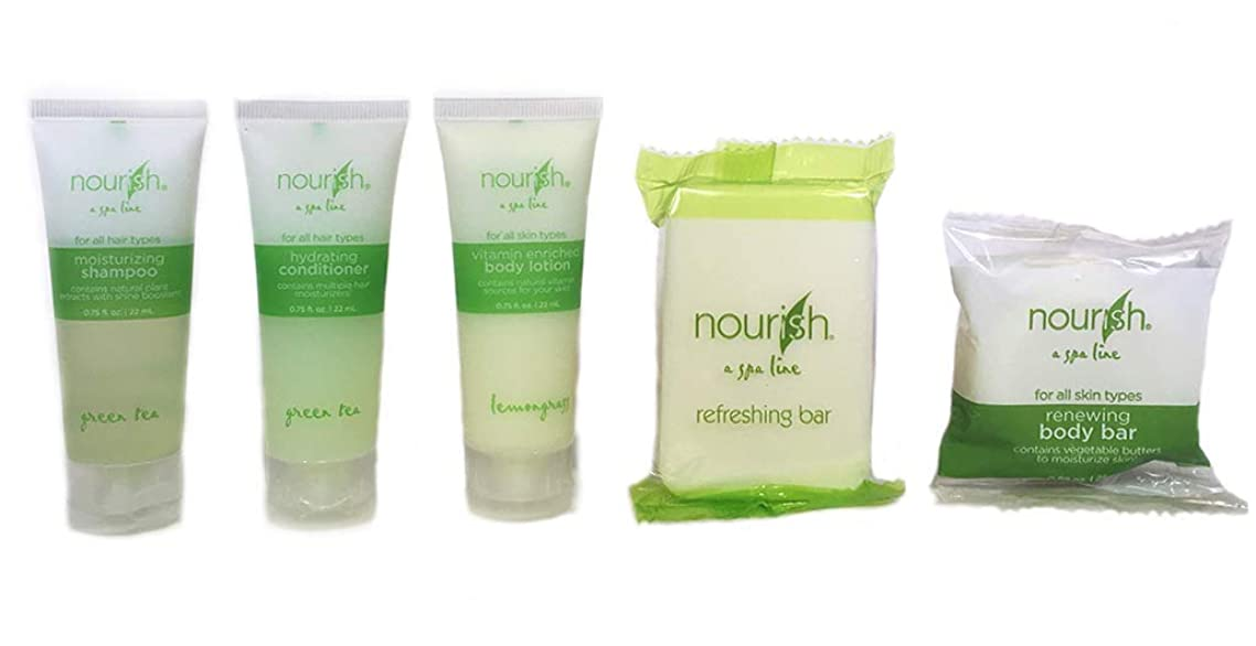 Nourish Amenity/Guest Room Twenty Five, 5 Piece Sets (125 Products Total)