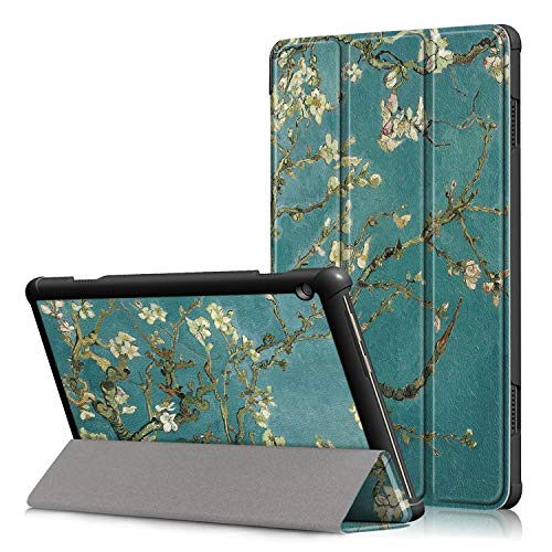 Fmway Lenovo Tab M10 Case, Ultra Slim Smart Leather Cover with Stand Function for Lenovo Tab M10 TB-X605F