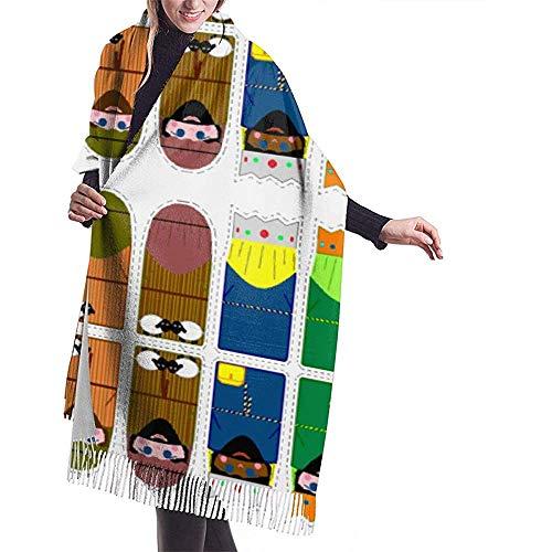 Elaine-Shop Weihnachtskrippe Adventskalender Fingerpuppen Hängeornamente Zu Schal Wickel Winter Warmer Schal Cape Cashmere Schal Wickel