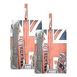 Hunihuni Bolsa de viaje para zapatos de viaje London Big Ben impermeable y portátil, organizador de zapatos con cremallera, 2 unidades