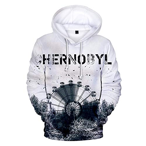 YTQQ-Chernobyl-Unisex 3D Sweater Streetwear, Anime Cartoon Cosplay Disfraz Sudadera Pullover Suter con cordn,Sudadera con Bolsillo de Canguro-XS