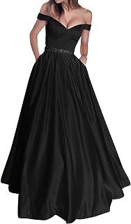 Frolada Kvinnor brudtärna klänningar axel brudklänning sexig enfärgad V-ringad ärmlös kvällsfest maxiklänning lång