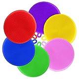 Esponja de Silicona,BESTZY 6 Piezas Cocina Esponja Antibacteriana Multicolor para Limpieza de Los Utensilios de Cocina Vegetales (Redondo)