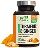 Turmeric Curcumin 95% Standardized with Ginger and BioPerine 2600mg - Black Pepper for High Absorption, Made in USA, Vegan Joint Support, Turmeric Ginger Supplement Pills - 120 Capsules