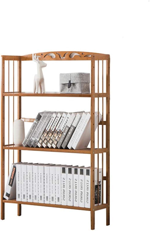 Adjustable Bookcase Bookshelf, Simple Home Storage Rack Foor Solid Wood Student Cildren Tasteless Material Health Load-Bearing Shelves-B 60X26X100cm
