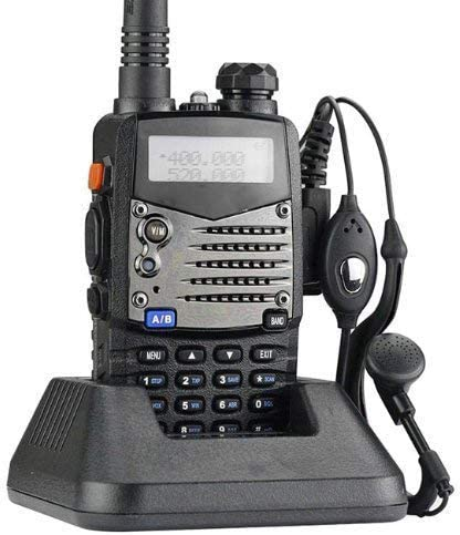 Mengshen UV-5RA Walkie Talkie 5RA FM Radio VHF/UHF Alcance hasta 5 km Dual Band Doble Display Doble Modos de Espera BF Transmisor Portátil
