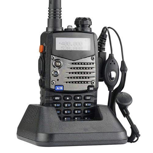 Mengshen UV-5RA Walkie Talkie 5RA FM Radio VHF/UHF Alcance hasta 5 km Dual Band Doble Display Doble Modos de Espera BF Transmisor Portátil
