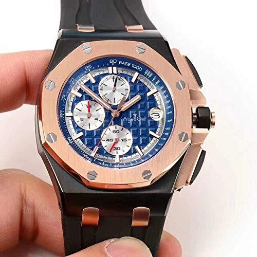 NSBKSB Herrenuhr Luxusmarke New Quartz Chronograph Herrenuhr Stoppuhr Lebron Sapphire Crystal Uhren Rose Gold Schwarz Blau Gummi17