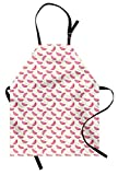 ABAKUHAUS Melone Grembiule da Cucina, Estate Fette del Modello, Grasso Sporco Polvere Lavabile Colori Che Non sbaidisce, Rosa Pallido Giallo Bianco