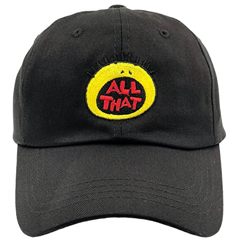 SYWHPS All That Hat Dad Cap 90s Baseball Adjustable Strapback (Black)
