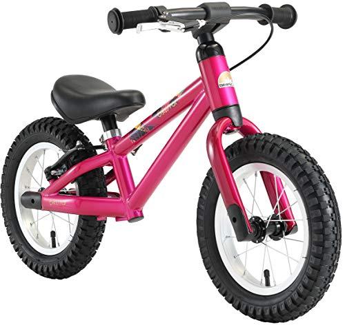 BIKESTAR Mountain Kinderlaufrad Lauflernrad Kinderrad für Jungen und Mädchen ab 3 - 4 Jahre | 12 Zoll Kinder Laufrad Mountainbike | Berry Lila | Risikofrei Testen