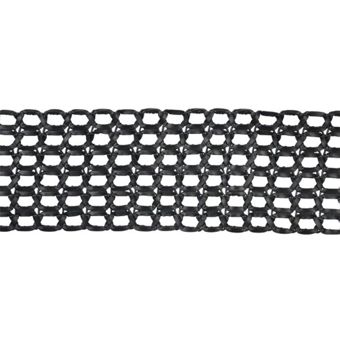 Belagio Enterprises 3-inch Faux Leather Woven Braid Trim 15 Yards, Black