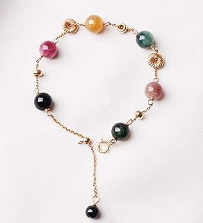 LWQQY Brazil Natural Candy Rainbow Tourmaline Bracelet Female Lucky Wangfu Transfer Bead Lucky Crystal Bracelet Tanabata Gift
