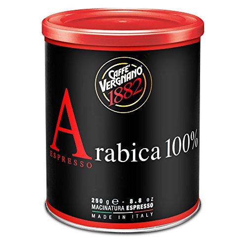 Caffè Vergnano 1882 Lattina Caffè 100% Arabica Macinato Espresso - 12 confezioni da 250 gr (totale 3 Kg)