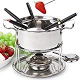 Fondue Set Cheese Stainless Steel of 6 Forks/DIY Chocolate Fondue Set Silver/Meat Fondue Sets