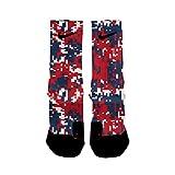 HoopSwagg New England Digital Camo Custom Elite Socks Extra-Large