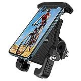 Soporte Movil Bicicleta, Soporte para Teléfono antivibración para Motocicleta, Soporte para Teléfono Móvil para Bicicleta Compatible con iPhone 12/11 / X / 8/7, Galaxy S20 / S10 / Note 10 y Más