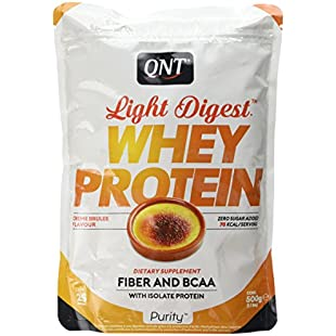 QNT Light Digest Whey Protein Supplement, 500 g, Creme Brulee