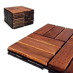 "powerful Terra Style – Paving Stones – Acacia Wooden Floor – Terra Style – 12 ""x12"" (20…"