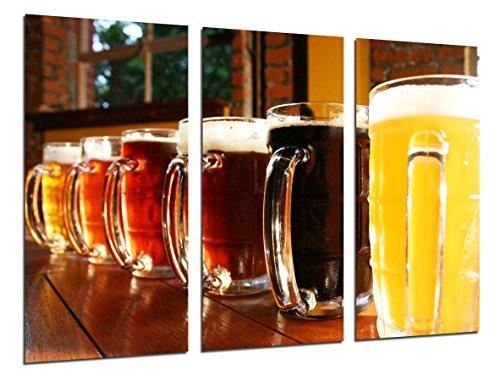 Cuadro Fotográfico Cerveceria, Cerveza Rubia y Tostada Tamaño total: 97 x 62 cm XXL