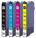 Druckerparadies Compatible con Epson 405XL Epson 405 cartuchos de tinta para Epson Workforce Pro WF-3820 WF-3825 WF-4820 WF-4825 WF-4830 WF-7830 WF-7835 WF-7840.