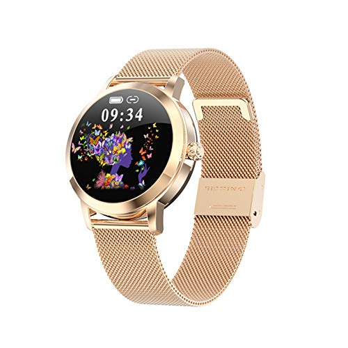 Mujer Smart Watch LW10 Monitor de Ritmo cardíaco IP68 Mensaje Impermeable Recordatorio Estilo de Moda de Negocios para Android iOS,B