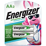Energizer Rechargeable AA Batteries, NiMH, Pre-Charged, 2 Count (Recharge Power Plus)