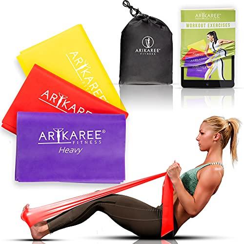 Arikaree® Elastici Fitness, Bande Elastiche Fitness per Casa e Palestra Kit Fascia Uomo...